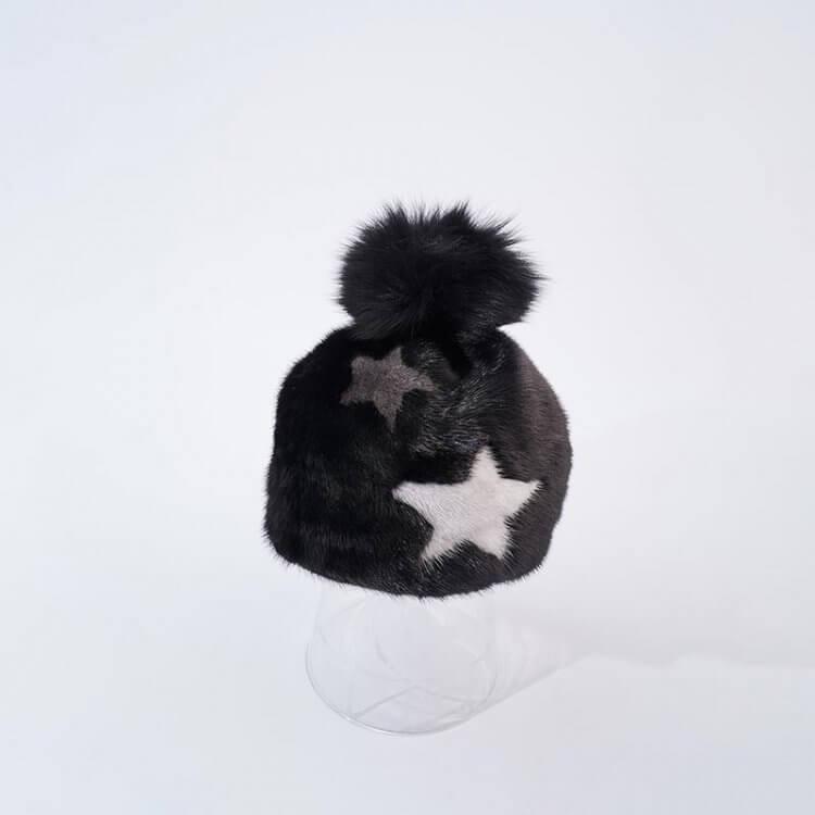 Cappello Donna Nero Stelle | Nicola Pelliccerie
