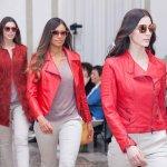 Cappottino Giacchetto Kiodo Pelle Scamosciata rossa Frange Su Misura  | Nicola Pelliccerie