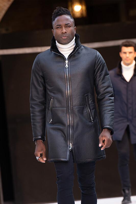 Cappotto Uomo Moda Montone Zip | Nicola Pelliccerie