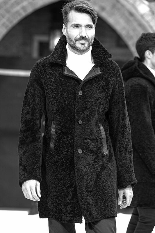 Cappotto Uomo Pelliccia Montone Shearling | Nicola Pelliccerie