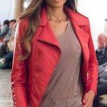 Chiodo Vera Pelle Morbido Rosso Donna Su Misura Avvitato | Nicola Pelliccerie