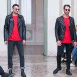 Giacca Chiodo Pelle Nero Uomo Personalizzato produzione Su Misura Venezia | Nicola Pelliccerie