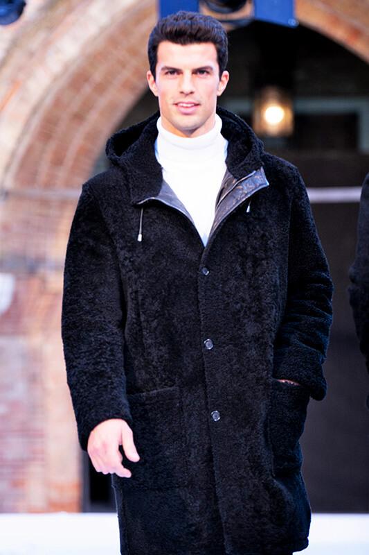 Giacca Montone Uomo Pelliccia Uomo Moda | Nicola Pelliccerie
