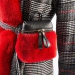 Visone Marsupio Rosso | Nicola Pelliccerie