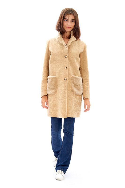 Cappotto shearling reversibile nero beige leggero | Nicola Pelliccerie