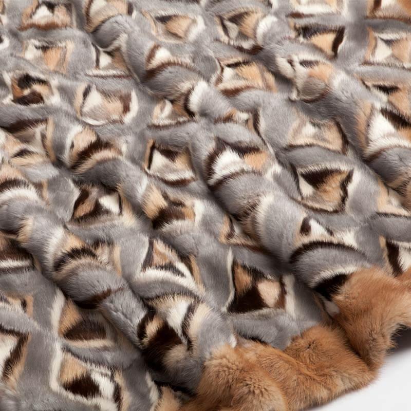 Coperta divano pelliccia visone colorata naturale | Nicola Pelliccerie