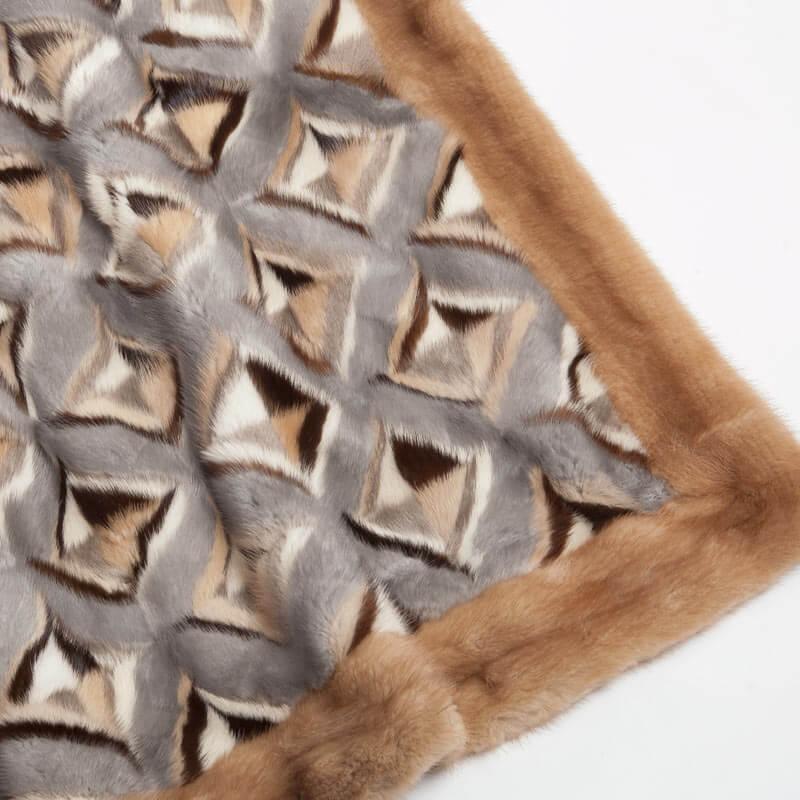 Coperta lana vera pelliccia visone plaid | Nicola Pelliccerie