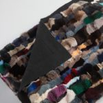 Coperta matrimoniale pelliccia cincilla soffice colorata cachemire nera 240x130 cm | Nicola Pelliccerie