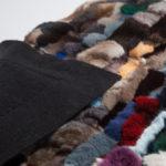 Plaid matrimoniale pelliccia cincilla bianca grigia cachemire divano letto 240x130 cm nera | Nicola Pelliccerie