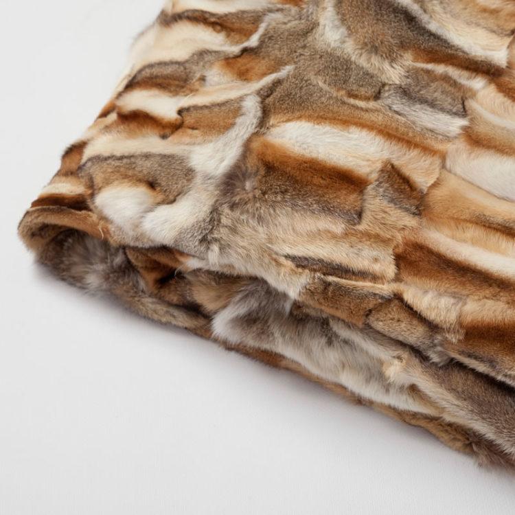 Plaid matrimoniale volpe naturale casa montagna cachemire letto | Nicola Pelliccerie