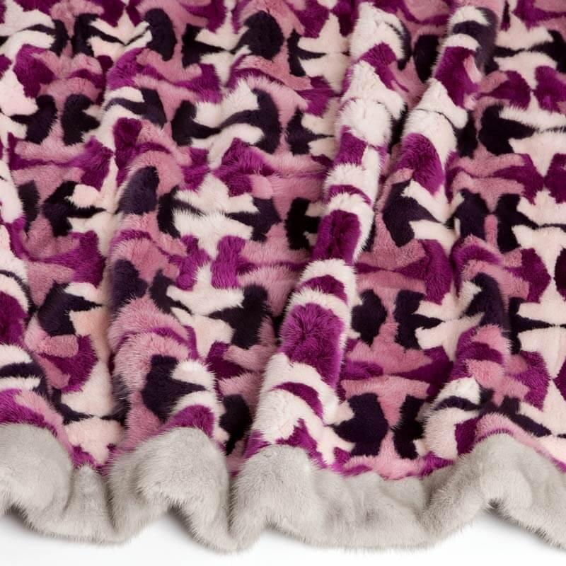 Plaid pelliccia matrimoniale colotata patchwork | Nicola Pelliccerie