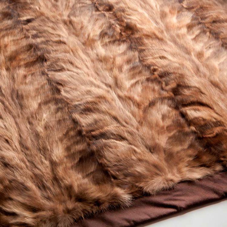 Plaid pelliccia online zibellino naturale marrone beige cachemire | Nicola Pelliccerie